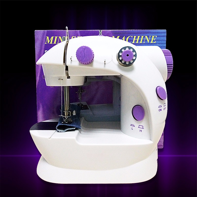 2- speed Domestic mini electric sewing machine with power supply