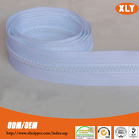 Various plastic zipper roll for luggage and bag with cheap zip price