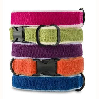 Pet Accessories 2019 Custom Fashion recycled hemp pet dog collar with fleece lining