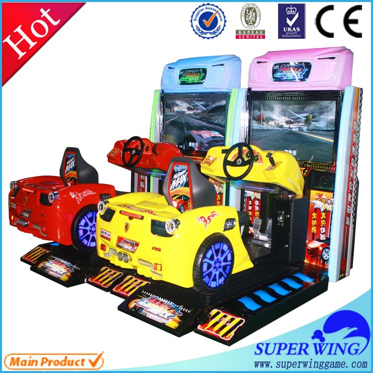 Simulator driving car racing video game coin operated machine
