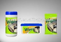25pcs 40pcs wipes car cleaning leather scented or unscented OEM welcomed