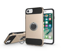 Shockproof Ultra Thin Slim PC TPU Armor Cover with Ring Phone Holder Holster Belt Clip Case for iPhone 7