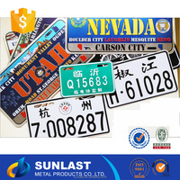 Sunlast HAWAII U.S.A standard size car license plate with various logo OEM6022