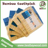 Natural bamboo toothpicks made in China