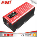 MUST 12v 24v 48v dc to ac 110v 220v pure sine wave 2000W power inverter solar