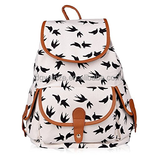 2017 fashion Canvas Backpack for Women or Girls Boys Casual Book Bag Sports Daypack