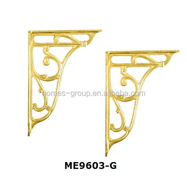 Gold plated toilet accessories Pair brass bracket