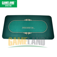 100% Customized Design Rubber Poker Table Mat Texas Poker Mat