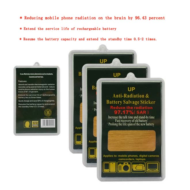 Gold mobile phone energy saver anti radiation sticker for phone