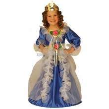 Little boys blue royal princess and prince medieval costume for kids