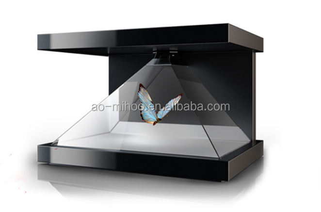 Factory 3D Holographic Display / Advertising 3d showcase/holographic display 3d pyramid