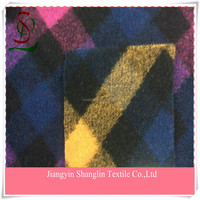 Yarn dyed plaid fabric,wool fabric for coats