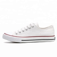 Plain black white blank bulk stock wholesale cheap men canvas shoes