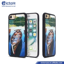 2017 Hot Cellular Mobile phone 3D designs high definition PC TPU 2in1 case for iphone 8