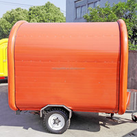 230cm long 165cm wide round fiberglass High quality food van/kiosk