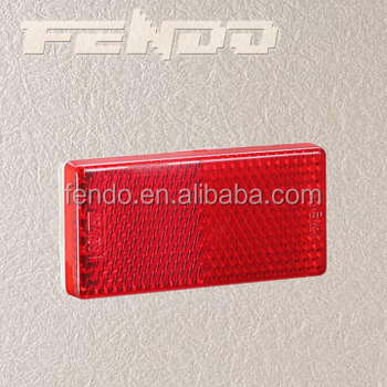 E4 Red Rectangle Truck Trailer Safety Reflectors
