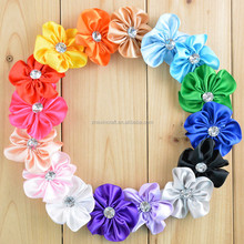 Charming Satin Ribbon Flower for Sale Making For Hair Accessories Head Baby Girl Decoration