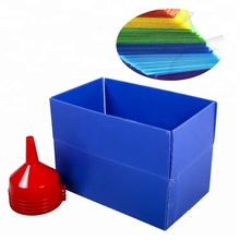China factory light folding plastic corrugated pp hollow storage box