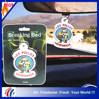 vanilla scents los pollos hermanos hanging car air freshener decorative pendant, custom air freshener cheap promotion gift
