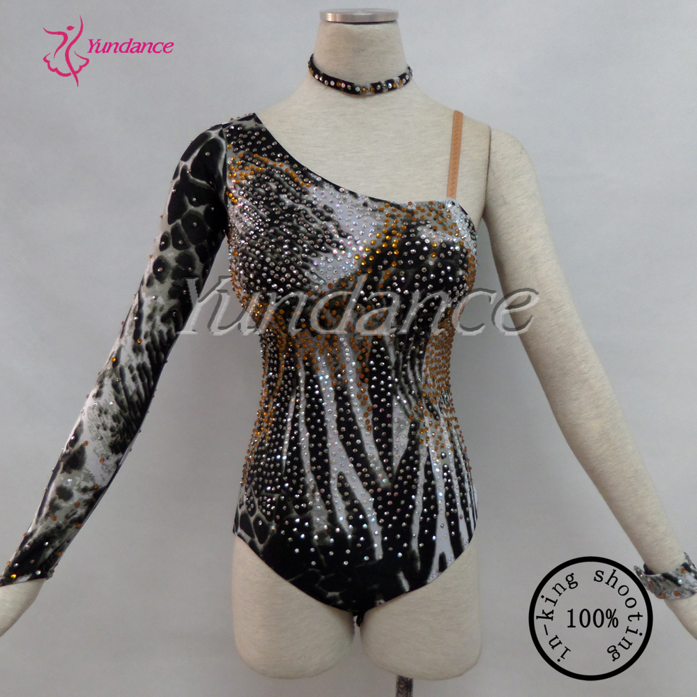 2016 The Girl's Sexy Pantherine Lineage Sequin Dance Leotard 14HL208