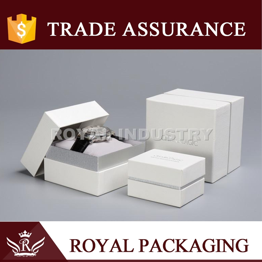 High quality pillow giftbox watch paper box for watch jewelry packaging