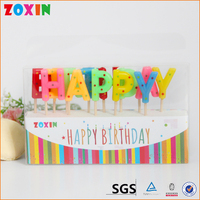Letter shaped birthday alphabet cake candles