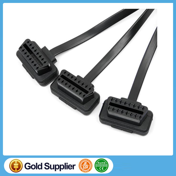 OBD2 Y Cable, OBD2 Splitter Cable, OBD II OBD2 16Pin 1 Male to 3 Female Diagnostic Cable