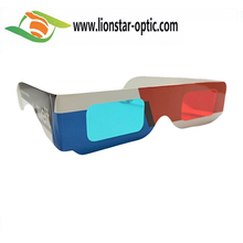 Logo Customized Red Cyan 3D Glasses for Real D , CMYK Printing 3D Picture Red Blue Cyan Anaglyph 3D Glasses