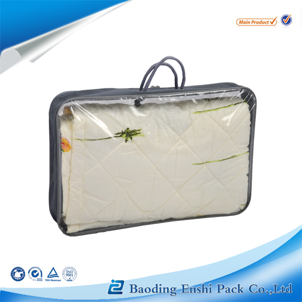 Clear Pvc Plastic Zipper Bag Quilt Pillow Blanket Bedding Packaging Bags
