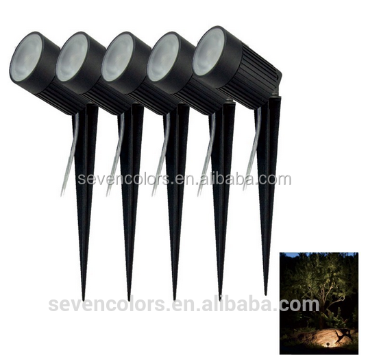 hot adjustable 12 volt COB led IP67 outdoor garden lighting 3w 5w 7w 8w 10w 30w garden spot