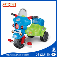 guangdong classic plastic 3 wheels children manual Motorcycle toy kid ride on car