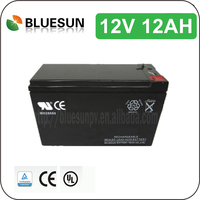 Bluesun 12v 12ah exide ups battery with ISO CE ROHS UL Certificate