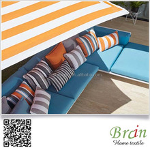 Diffen High Quality Custom Design Yarn Dyed Jacquard Polyester Cotton Strip Design Outdoor Patio Cushions
