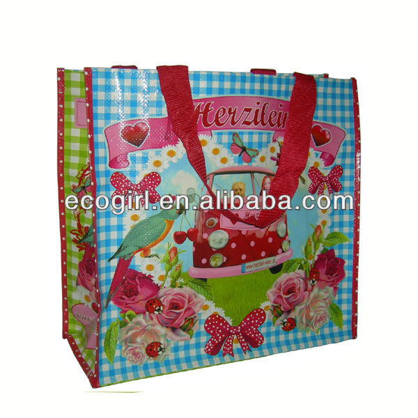 customized OEM design BOPP laminated gravure offset printing polypropylene pp woven reusable tote bag