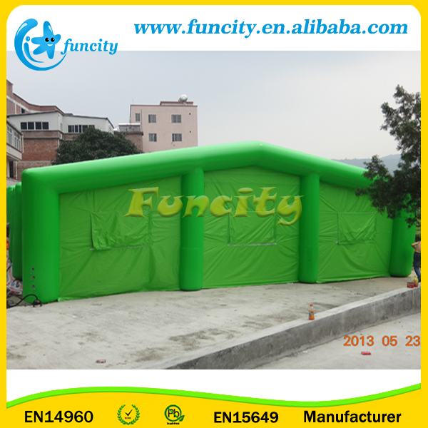 33*16*13H Foot Giant Outdoor Green Event Inflatable Wedding Reception Tent
