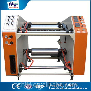 small machines Newly developed HT-500 semi automatic stretch film rewinder and slitter