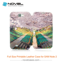 Latest New Sublimation Full Size Printing PU Leather Phone Case For Samsung Note 2
