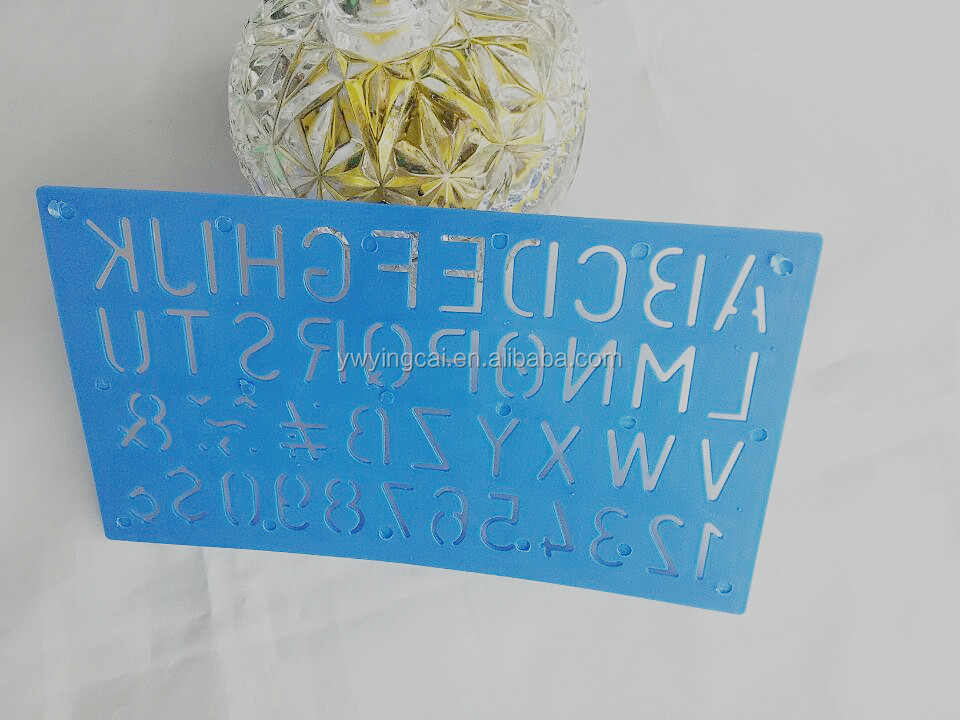 2015 New Factory Direct Sale OEM High Quality Plastic Letter Stencil height measurement ruler