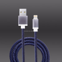 Authorized mfi manufacturing licensees 2017 braided MFI usb charing data cable