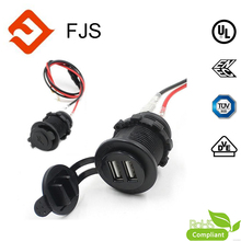 Waterproof 12V Power Outlet Cigarette Lighter Socket Power Supply 2.1A usb car charger Socket for Motorcycle