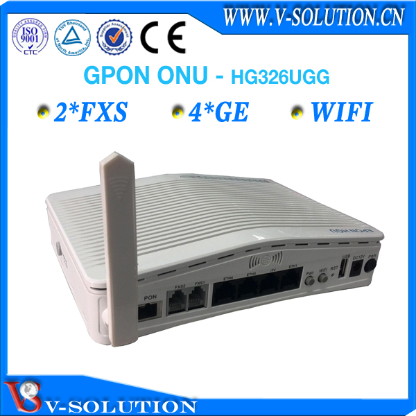 4 RJ45 port GPON ONT 2 FXS VoIP Home gateway wireless unit