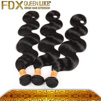 Top Grade 100% Pure Natural Color Body Wave Human Hair Weft