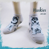 The Dog Series Huskies custom women invisible socks
