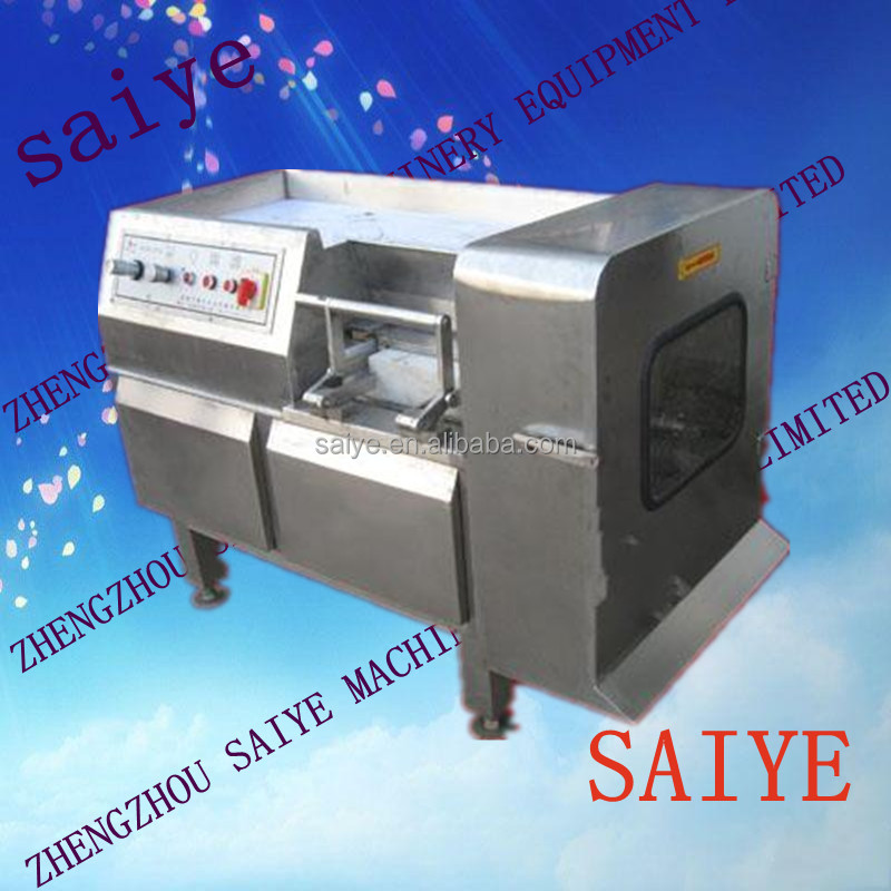 Stainless steel poultry meat dicer machine