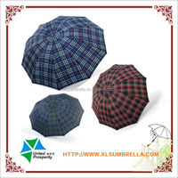 Cheap merchandise for 3 fold Scotland fabric Chinese umbrella