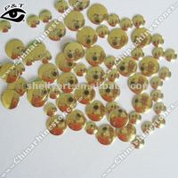 Korean iron on nailhead hot fix metal stud round 6mm gold