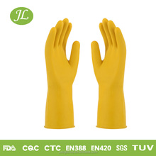Warm fleece-lined malaysia top led magic household latex rubber gloves