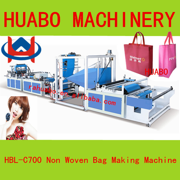 various recycled Computer control high speed hot sale Ultrasonic non-woven non woven d-cut bag making machine price
