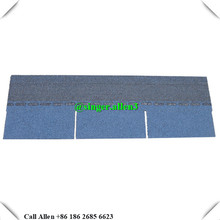 high quality bitumen roofing 3 tab harbor blue asphalt shingle