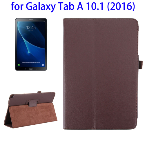 Low MOQ Litchi Texture PU Leather Back Cover Case for Samsung Galaxy Tab A 10.1 2016